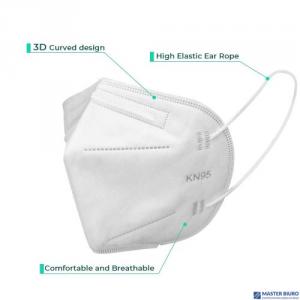 Maseczka ochronna KN95 FFP2 1szt biała filtracja >95% cząsteczek wg zaleceń WHO