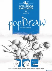 Blok rysunkowy POP DRAW A4 50 arkuszy 150g BLO-RYA4AR