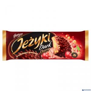 Ciastka JEŻYKI Dark Cherry 140g w czekoladzie deserowej