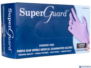 Rękawice nitrylowe niebieskie bezpudrowe S (100) SUPERGUARD 8%VAT