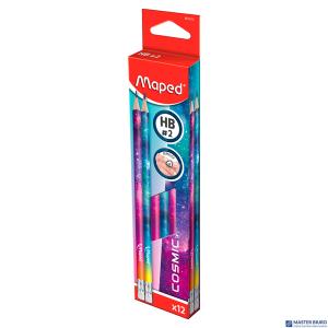 Ołówek z gumką HB COSMIC 851812 MAPED