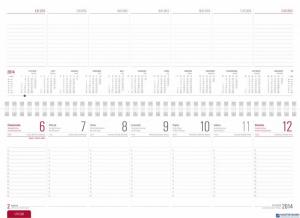 Kalendarz biurowy MANAGER LUX (H2)23 granat malange  TELEGRAPH