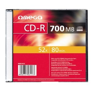 Płyta CD-R 700MB 52X SLIM CASE*1 OMEGA OMS1