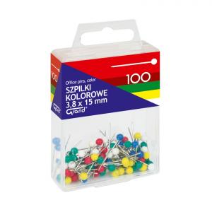 Szpilki kolorowe 3,8x15mm 100 T4 110-1671 GRAND