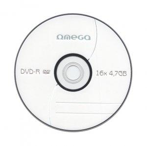 Płyta DVD-R 4,7GB 16X CAKE*10 OMEGA OMD1610+
