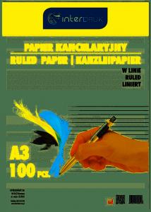 Papier kancelar.A3 linia (100) INTERDRUK