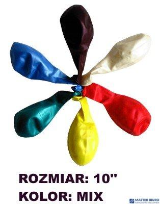 """Balony 10"""""""" METALLIC, mix kolorów, 100 szt. FIORELLO 170-1678"""