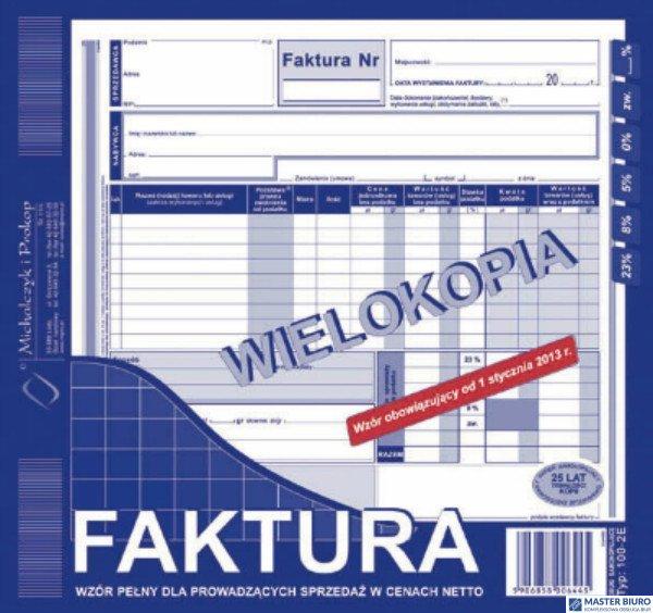 102-2E Faktura VAT MICHALCZYK&PROKOP 2/3 A4 80 kartek