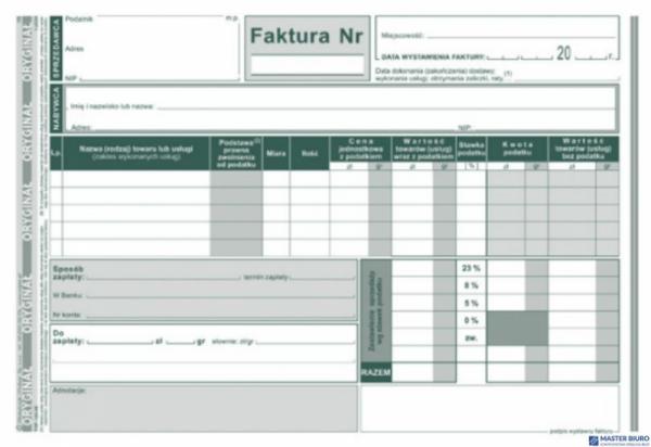 143-3E Faktura VAT MICHALCZYK&PROKOP A5 80 kartek