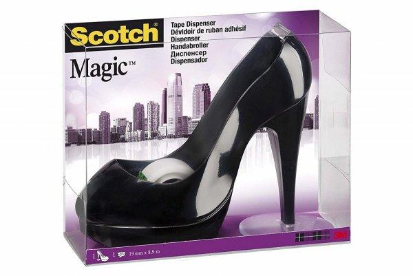 Podajnik Scotch_ Czarna Szpilka do taśm klejących, w zestawie taśma Scotch_ Magic_ 19mm x 8,89m, _C30-BLACK SHOE 3M-8887862043930