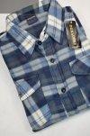 Koszula polarowa niebiesko-beżowa w kratkę