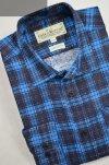 Koszula flanelowa z dwiema kieszeniami -turkusowa