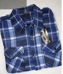 Koszula polarowa niebiesko-granatowa kratka.