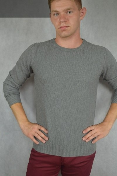 Cienki sweter pod szyję szary