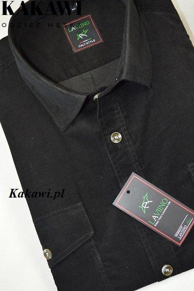 Koszula ze sztruksu czarna
