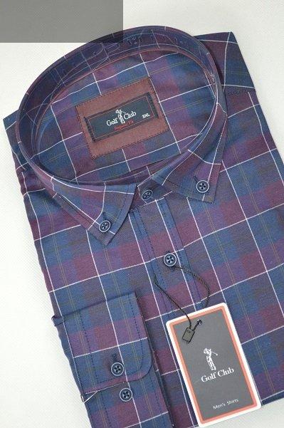 Koszula męska nadwymiar w kratkę.