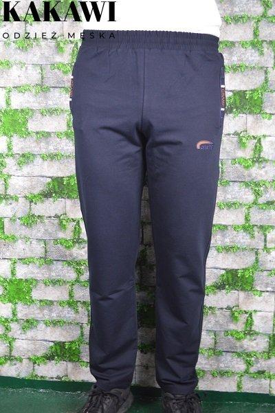 Spodnie męskie dresowe granatowe nadwymiar