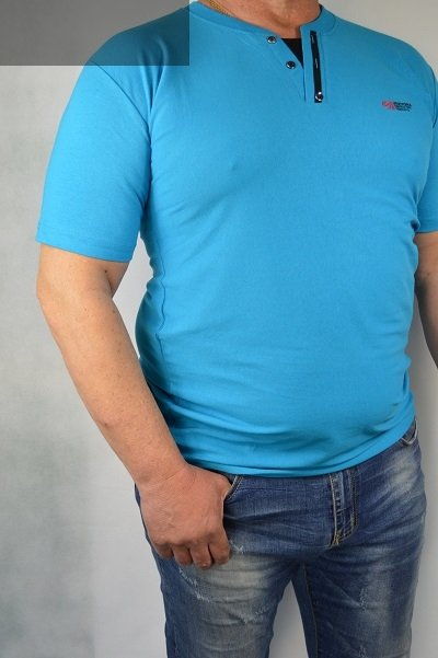 Koszulka turkusowa nadwymiar.