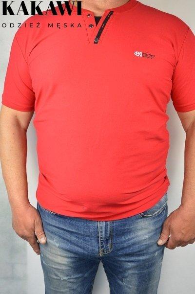 Koszulka czerwona nadwymiar.