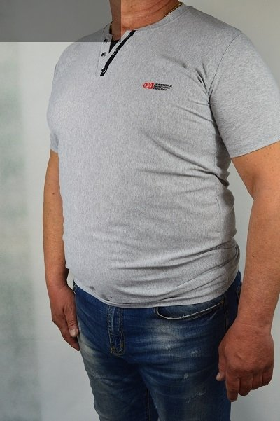 Koszulka szara nadwymiar.