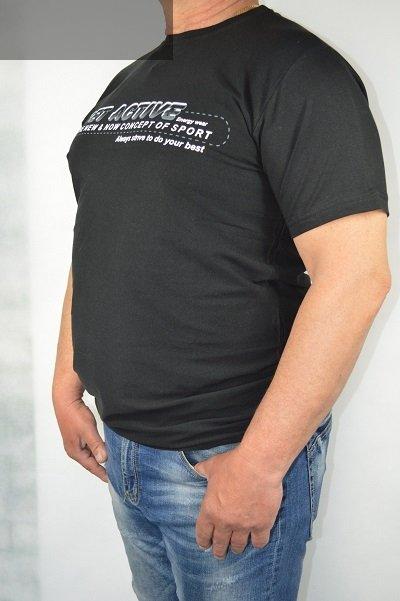 T-shirt czarny nadwymiar