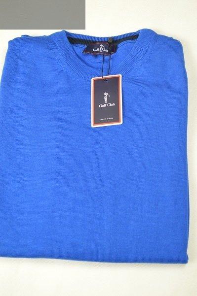 Sweter męski cienki niebieski.