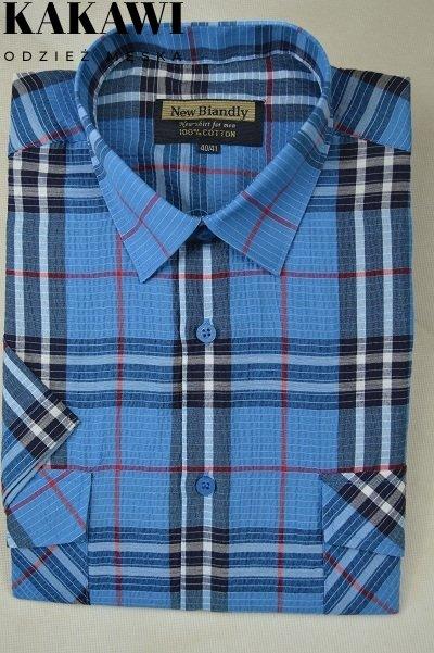 Koszula z kory chabrowa w kratkę
