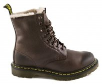 Buty Dr. Martens SERENA Dark Brown Polished Laredo OCIEPLANE