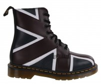 Botki Dr. Martens PASCAL BRIT Navy OXBlood White Smooth