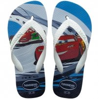Klapki Havaianas KIDS CARS White Black