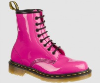 Buty Dr. Martens 1460 W Hot Pink Patent Lamper