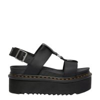 Sandały Dr. Martens FRANCIS STRAP SANDALS Black Hydro Leather 26525001