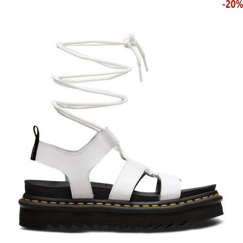 Sandały Dr. Martens NARTILLA HYDRO White Leather 24641100