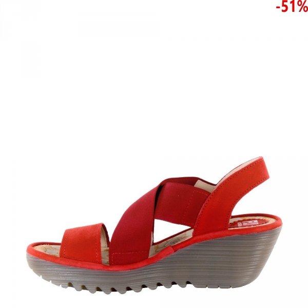 Sandały Fly London YAJI 888 Lipstick Red Cupido P500888005