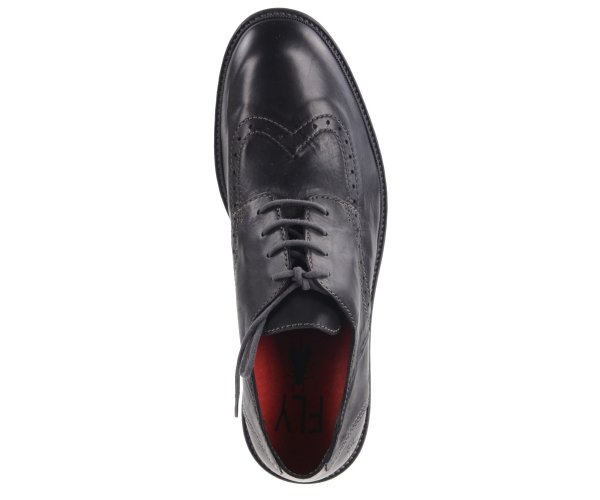Półbuty Fly London HUGH 933 Black Wash Leat