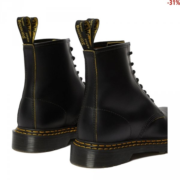 Buty Dr. Martens 1460 DOUBLE STICH Black+Yellow Slice 26100032