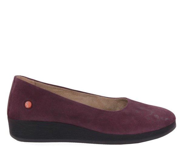 Balerinki Softinos ASA 414 Purple Smooth Lea