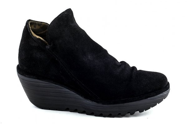 Botki Fly London YIP BLACK OIL SUEDE
