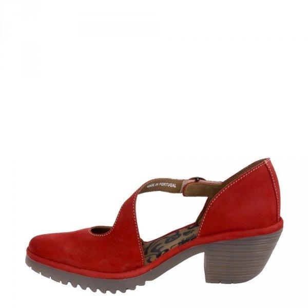 Sandały Fly London WAKO 144 Lipstick Red Cupido P501144007