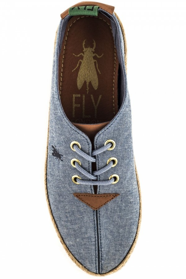Trampki Fly London ELIL 961 Sky Blue Cord Canvas