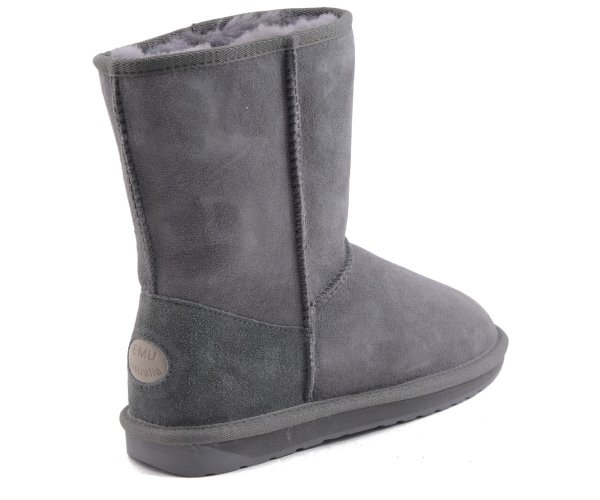 Buty EMU AUSTRALIA STINGER LO CHARCOAL WATER RESISTANT Ocieplane