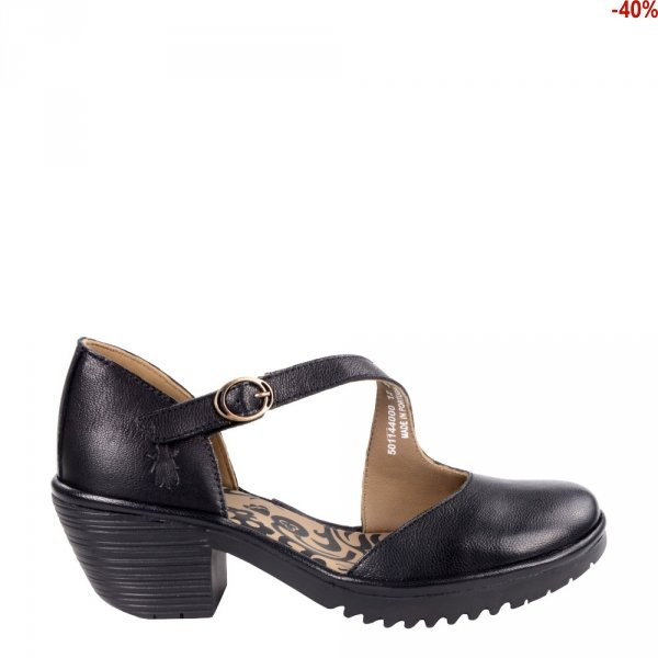 Sandały Fly London WAKO 144 Black Mousse P501144000
