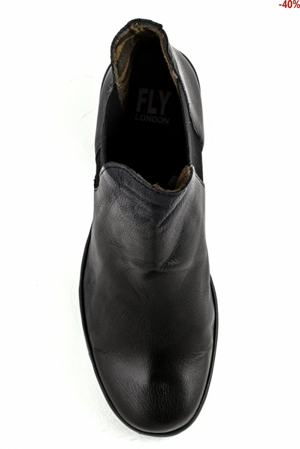 Botki Fly London YOSS MOUSSE BLACK