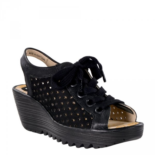 Sandały Fly London YORLO 026 Black Cupido Mousse P501026000