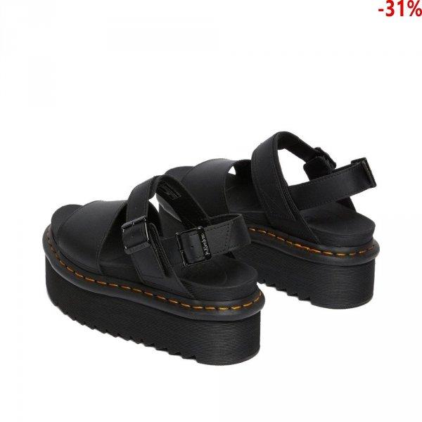 Sandały Dr. Martens VOSS QUAD STRAP SANDALS Black Hydro Leather 26725001