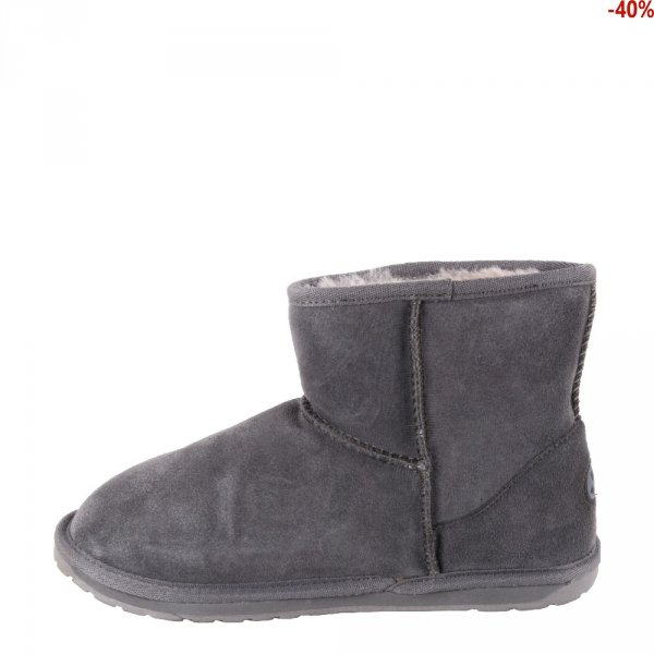 Buty Emu AUSTRALIA WALLABY MINI TEENS Charcoal Anthracite T10103 Ocieplane