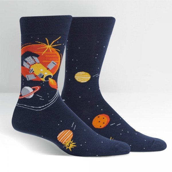 Skarpety męskie Sock It To Me Fly Me To The Sun MEF0404