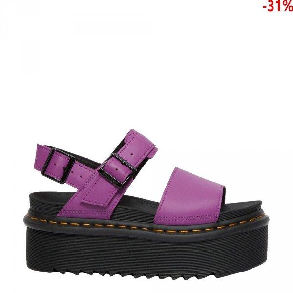 Sandały Dr. Martens VOSS QUAD STRAP SANDALS Bright Purple Hydro Leather 26725501
