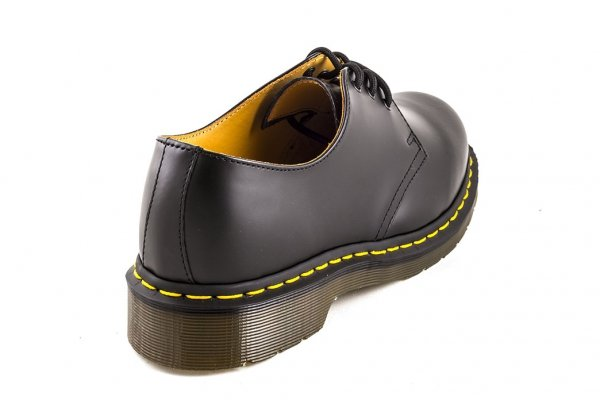 Półbuty Dr.Martens 1461 Black Smooth (z nicią) 10085001