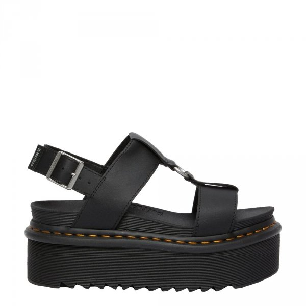 Sandały Dr. Martens FRANCIS STRAP SANDALS Black Hydro Leather 26525001
